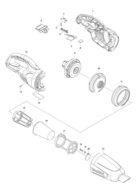 Explosie tekening van:BCL180