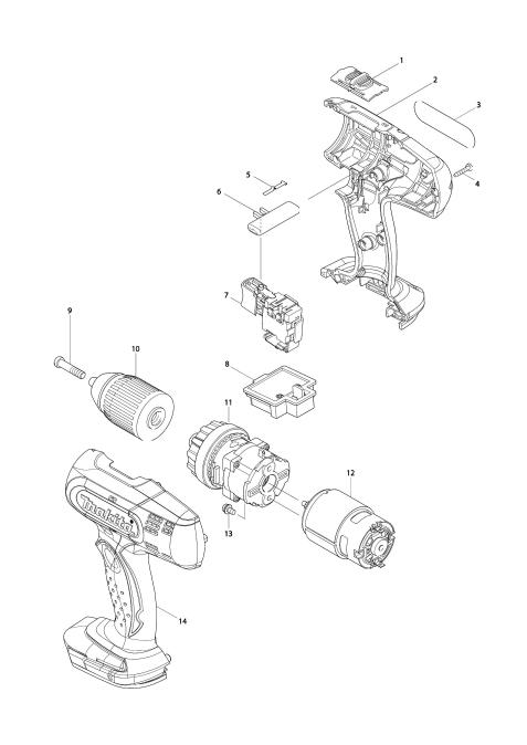 Explosie tekening van:BDF453