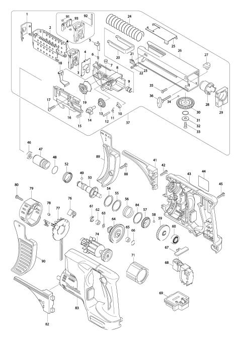 Explosie tekening van:BFR750