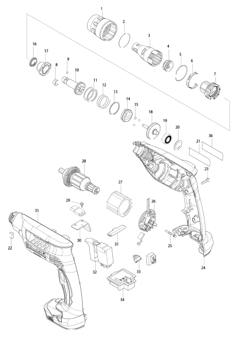 Explosie tekening van:BFS451