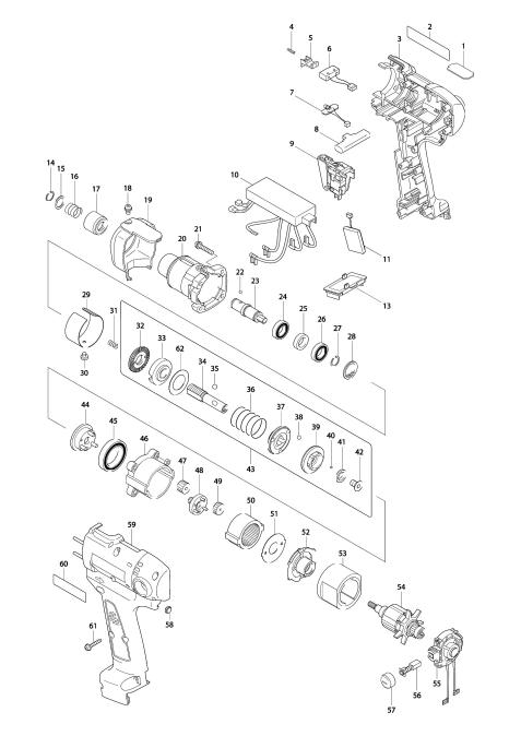 Explosie tekening van:BFT040F