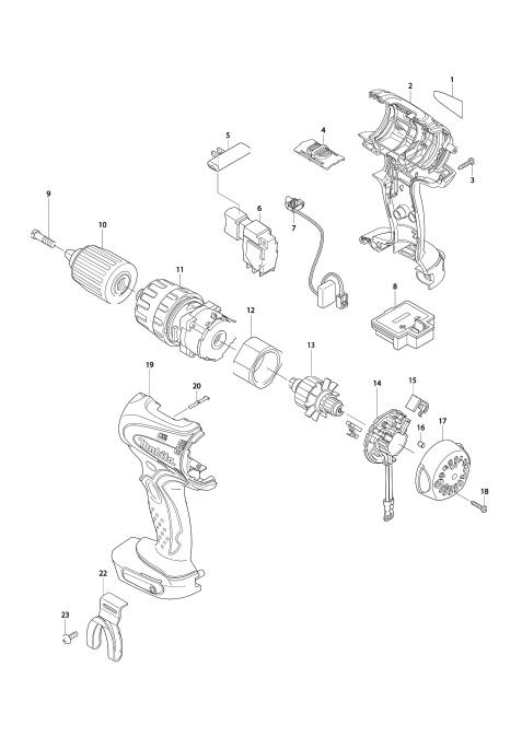 Explosie tekening van:BHP450