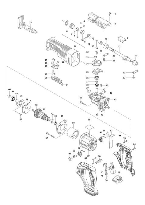 Vue éclatée du modèle:BJR141