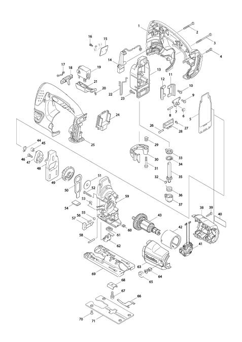 Vue éclatée du modèle:BJV180