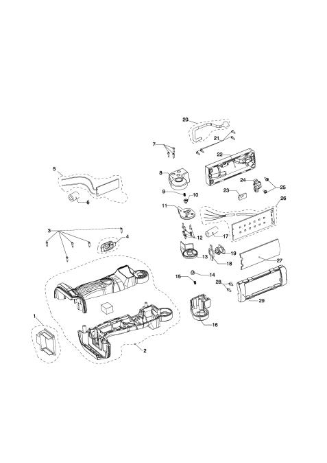 Explosie tekening van:BML801