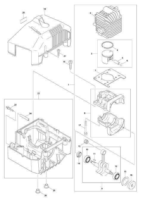 Explosie tekening van:DBC4500