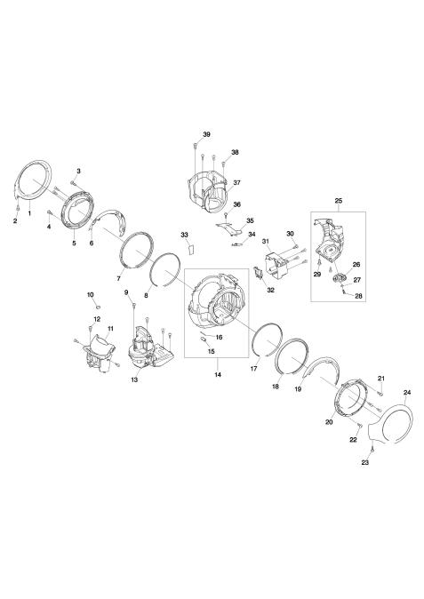 Explosie tekening van:DCL500