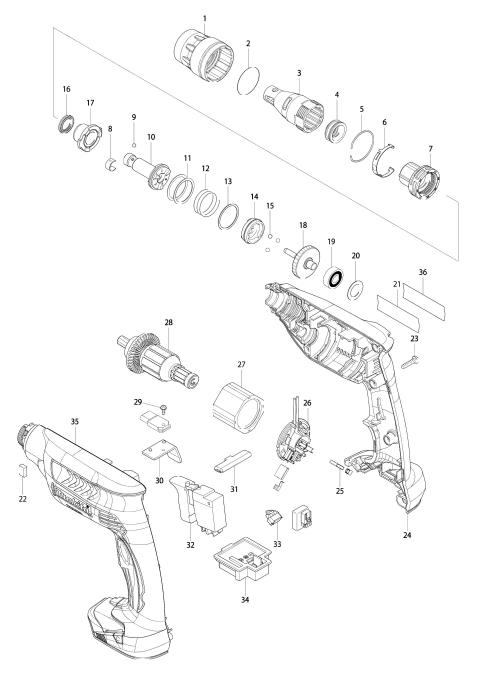 Explosie tekening van:DFS451
