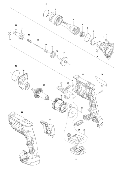 Explosie tekening van:DFS452