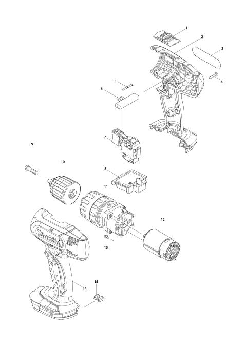 Explosie tekening van:DHP343