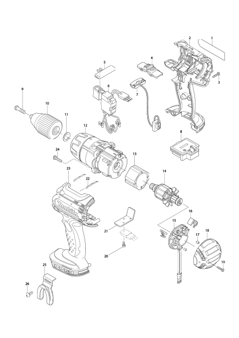 Explosie tekening van:DHP451