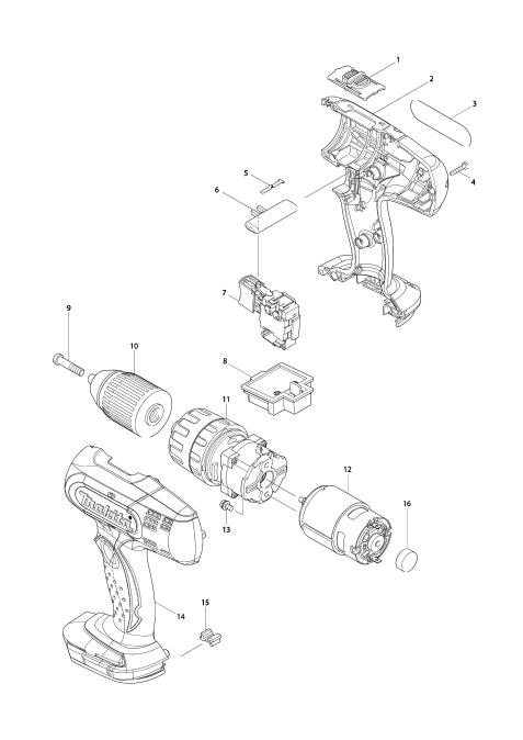 Explosie tekening van:DHP453