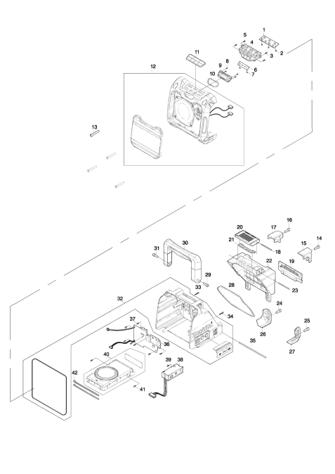 Explosie tekening van:DMR200