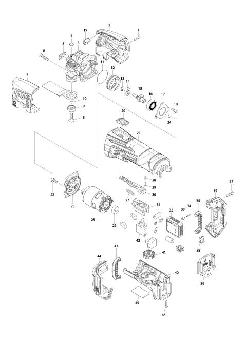 Explosie tekening van:DTM50