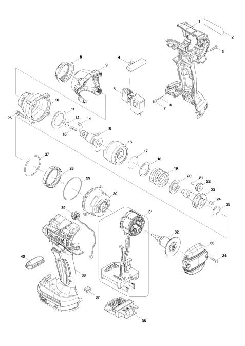 Explosie tekening van:DTW280