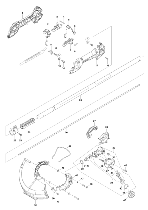 Explosie tekening van:DUR362L