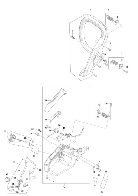 Explosie tekening van:EA3600F