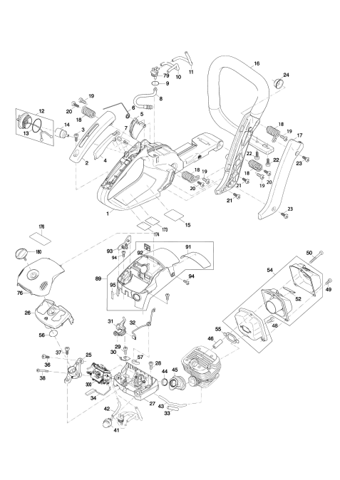 Explosie tekening van:EA4300F