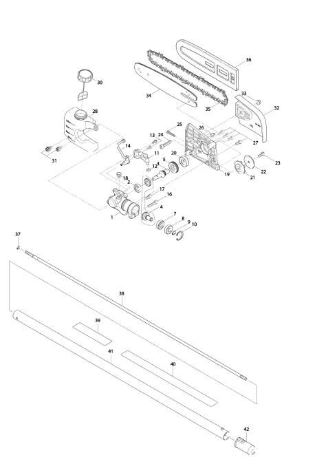 Vue éclatée du modèle:EY401MP