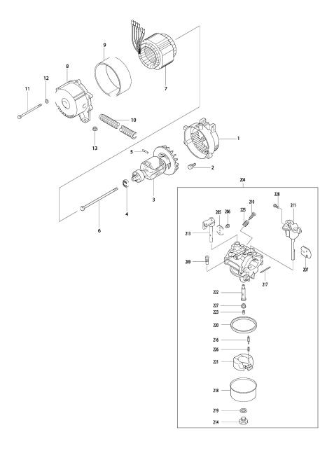 Explosie tekening van:G2800R