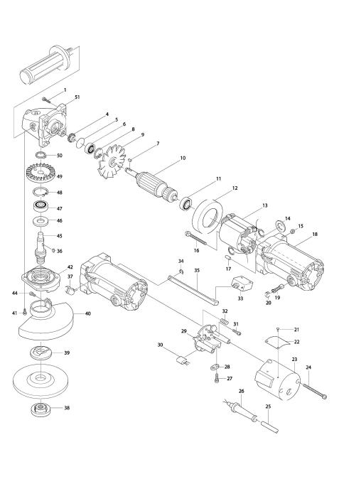 Explosie tekening van:GA5000