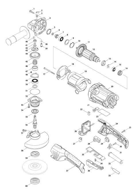 Explosie tekening van:GA5021C