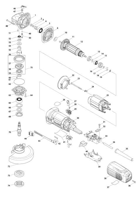 Explosie tekening van:GA5040C