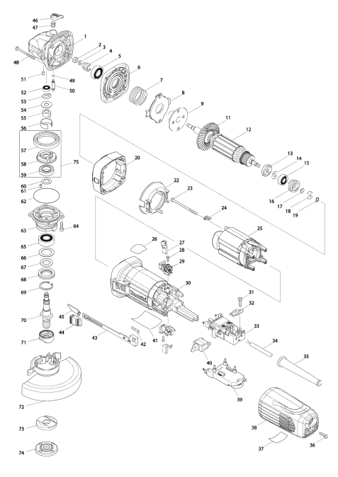 Vue éclatée du modèle:GA5041C