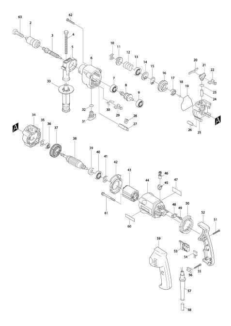 Vue éclatée du modèle:HP2031