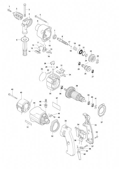 Explosie tekening van:HP2032