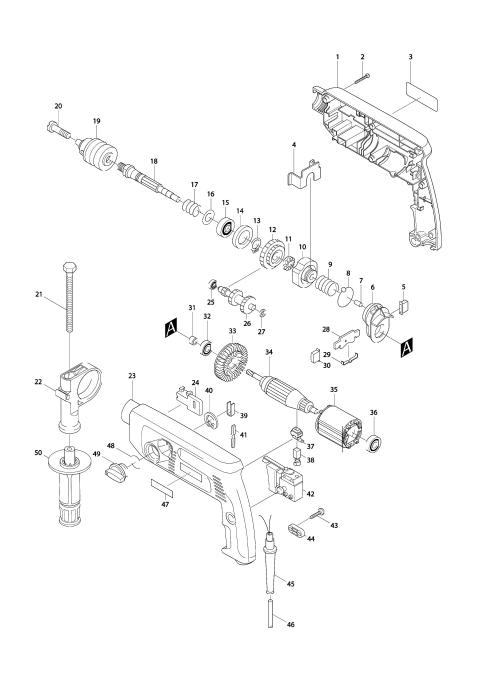 Explosie tekening van:HP2040