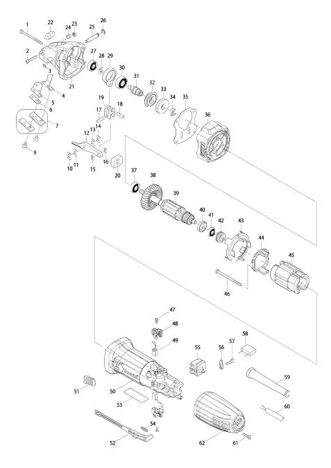 Explosie tekening van:JS1000
