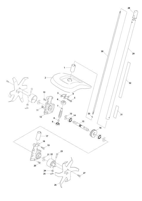 Explosie tekening van:KR400MP