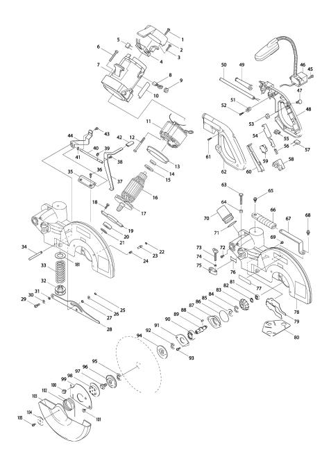 Vue éclatée du modèle:LS1214F