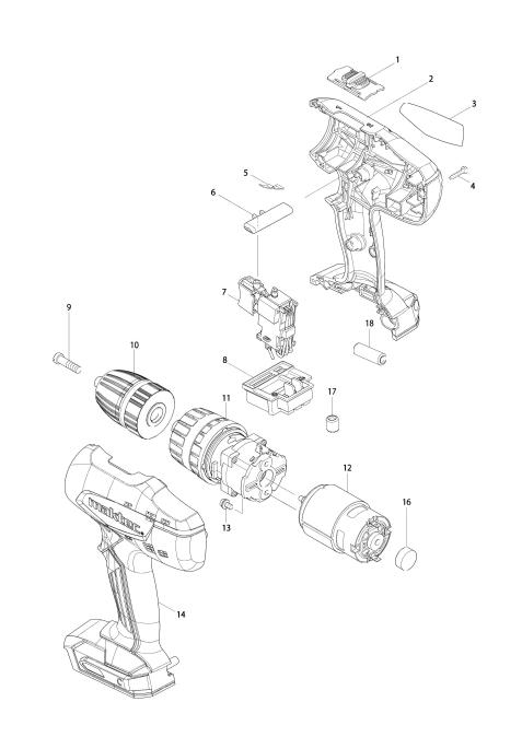 Explosie tekening van:MT081