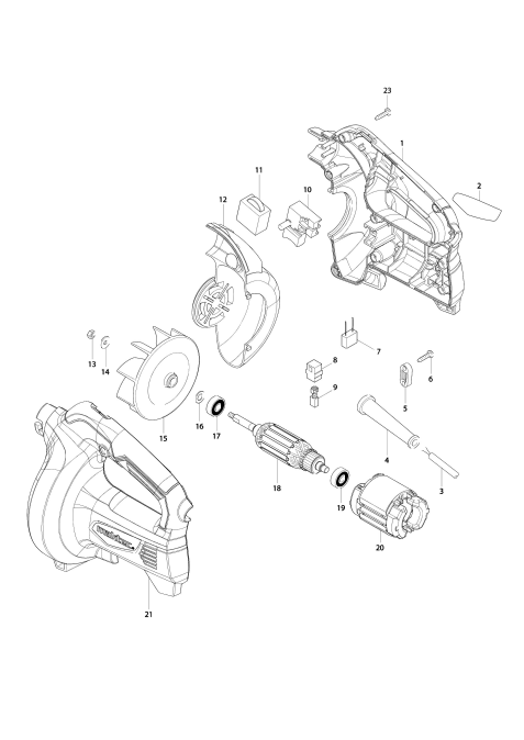 Explosie tekening van:MT401