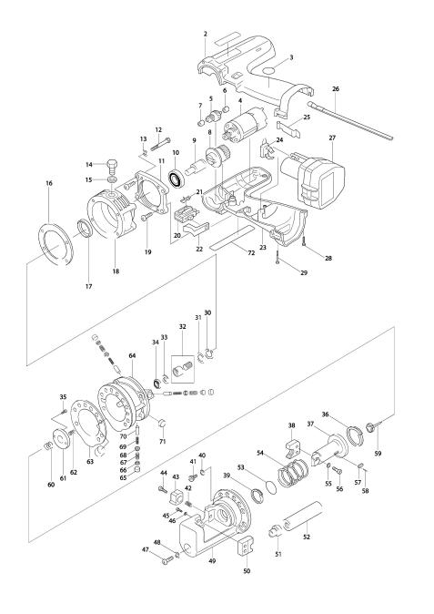 Vue éclatée du modèle:SC120D