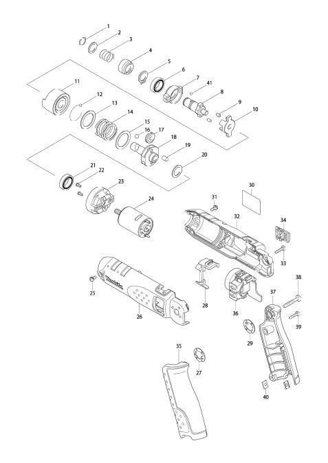 Explosie tekening van:TD020D
