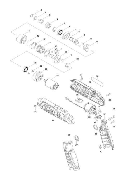 Explosie tekening van:TD022D