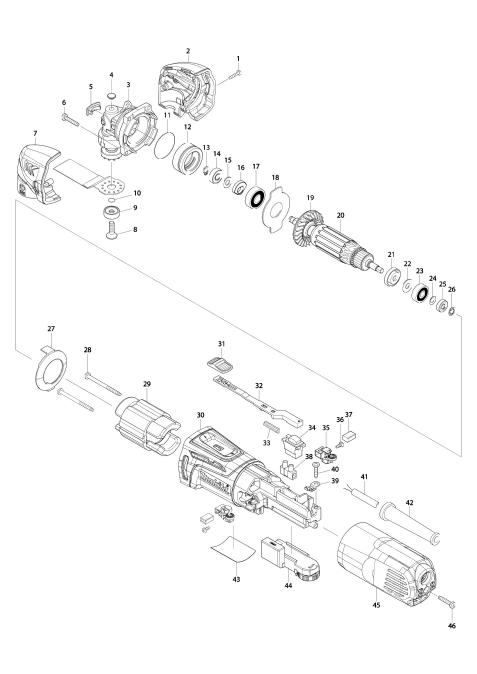 Explosie tekening van:TM3000C