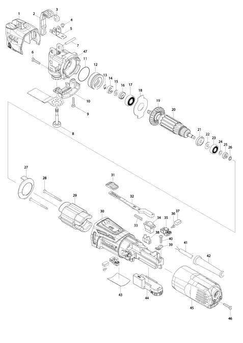 Explosie tekening van:TM3010C