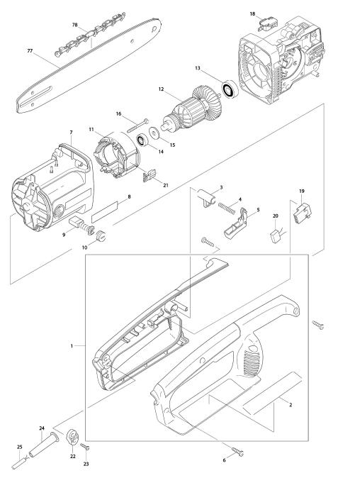 Explosie tekening van:UC3000A
